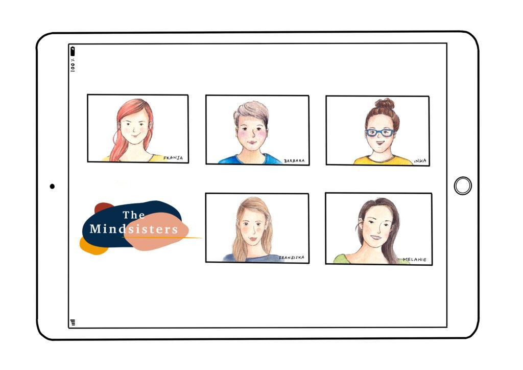 Alle Mindsisters auf einem Blick als Illustration gezeichnet.